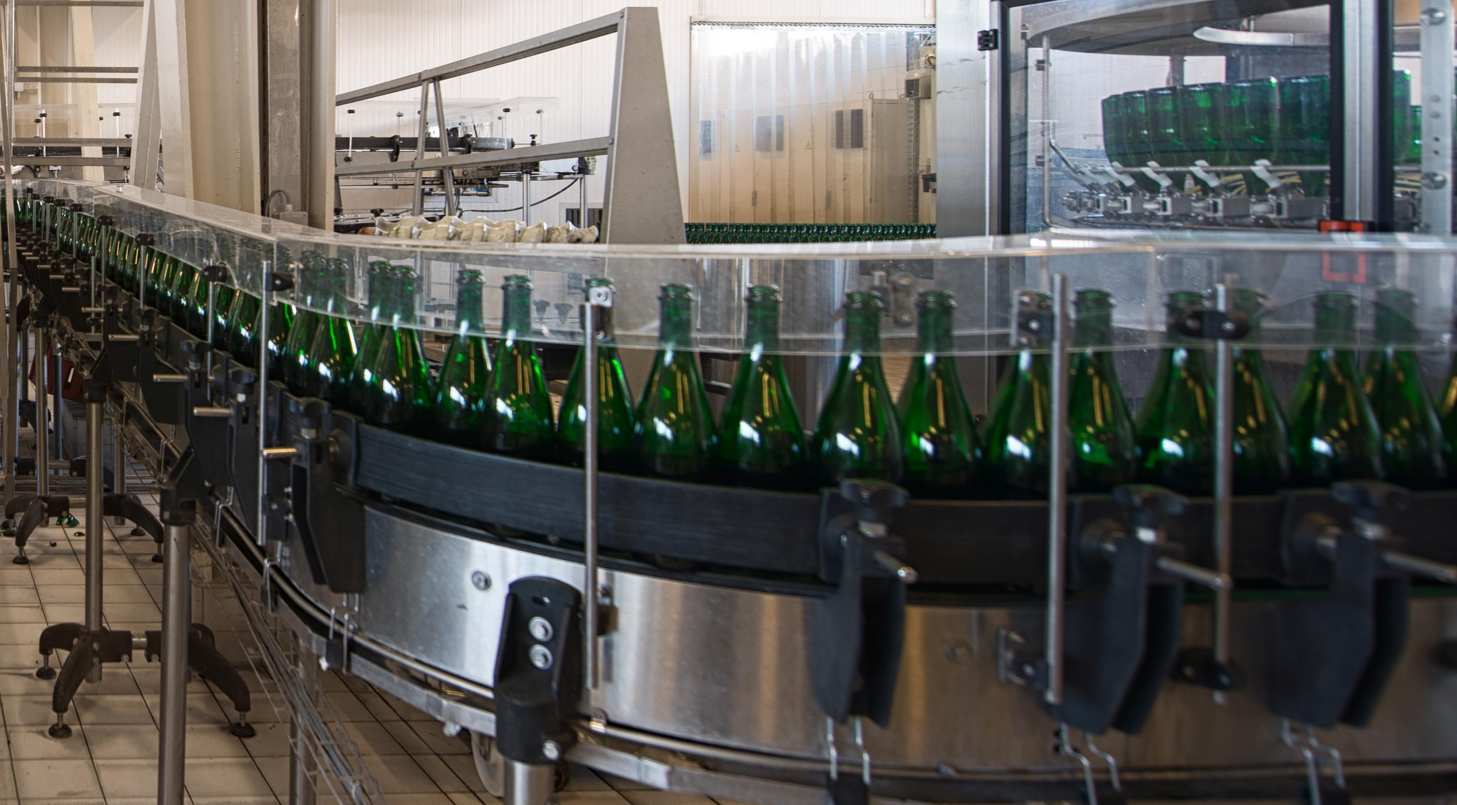 bottling in a beverage manufacturing plant.